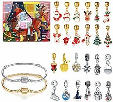 ColiCor Adventskalender Charms,Schmuck Halskette