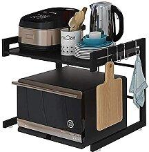 COLiJOL Küche Lagerregal Mikrowellenherd 2 Etagen
