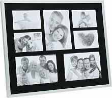Collage-Rahmen Tazewell 17 Stories Farbe: Schwarz