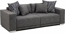 Collection AB Big Sofa London-L Struktur grau,