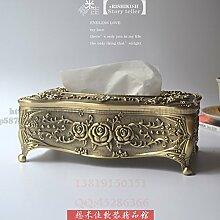 COLLECTOR Gewebe Box Stil kreative American pastoral Buch Box high-End Luxus Heimtextilien Schmuck Hochzeit Geburtstag,Grün bronze