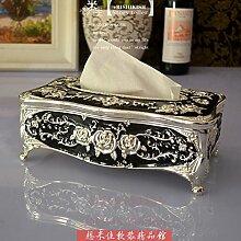 COLLECTOR Gewebe Box Stil kreative American pastoral Buch Box high-End Luxus Heimtextilien Schmuck Hochzeit Geburtstag,Silber fällt vinyl