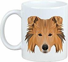 Collie, Becher mit einem Hund, Tasse, Keramik, neue geometrische Sammlung