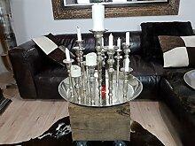 COLMORE Kerzentablett Kerzenständer für 13 Kerzen Silber Kerzenhalter Kerzenleuchter Aluguss massiv