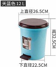 Colo Mülleimer mit überdachter Toilette Blue