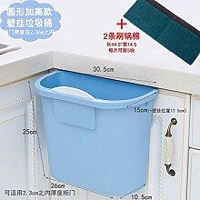 Colo Mülleimer Tür hängen Haushalt Quadrat blau