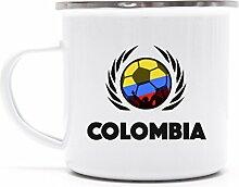 Colombia Wappen Fussball WM Fanfest Metalltasse