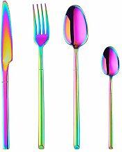 Color Me Besteck-Set, 24-teilig regenbogenfarben