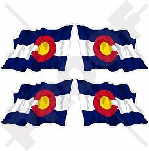 COLORADO Staat, Coloradan Wehende Flagge USA,
