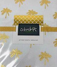 Colordrift Tischdecke Ocean Palm Gold Metallic