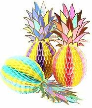 Colorful Ananas Form Papier Wabenbälle Tisch