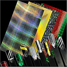 Colorful Design glitter Laser line Folien