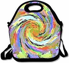 Colorful Hurricane Lunch Bag Tote Handbag Lunchbox