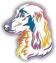 Colorful Irish Setter Dog - Self-Adhesive Sticker