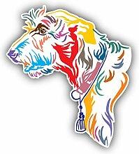 Colorful Irish Wolfhound Dog - Self-Adhesive
