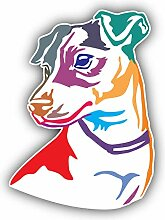 Colorful Jack Russel Terrier Dog - Self-Adhesive