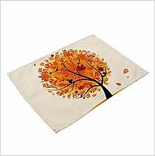 Colorful mit Baumwoll-Leinen-Mat dishware für