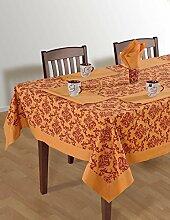 Colorful Multicolor Baumwolle Spring Floral Tischdecken Tische, Rost Bordüre Casual 124 x 52 Inch Orange