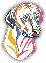 Colorful Rhodesian Ridgeback Dog - Self-Adhesive