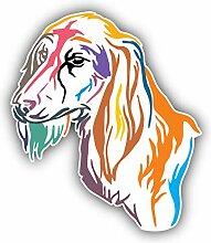 Colorful Saluki Dog - Self-Adhesive Sticker Car