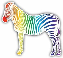 Colorful Zebra Animal Kunst Dekor Aufkleber 12 x 12 cm