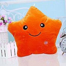 Colorfulworld Plüsch Hellrosa Gelb Lila Hellblau Hellkissen Camping Reise Weiches Kissen (orange)