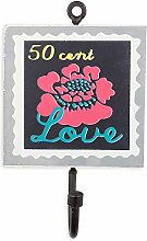 colorique chokhi Briefmarken Coat Rack Stempel Blume Love, 10x 0,5cm, mehrfarbig