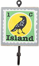 colorique chokhi Briefmarken Coat Rack Stempel Insel Vogel, 10x 0,5cm, mehrfarbig