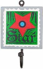 colorique chokhi Briefmarken Coat Rack Stempel Star, 10x 0,5cm, mehrfarbig