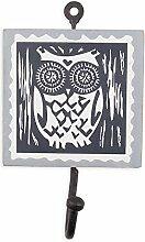 Colorique Chokhi Stamps - Garderobenstempel Eule, 10 x 0,5 cm, mehrfarbig