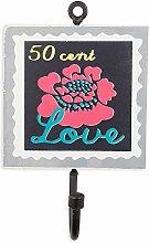 Colorique Chokhi Stamps - Kleiderständer Briefmarke Flower Love, 10 x 0,5 cm, mehrfarbig