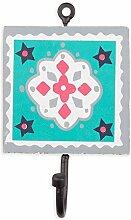 Colorique Chokhi Stamps - Kleiderständer Happy Graphic, 10 x 0,5 cm, mehrfarbig