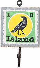 Colorique Chokhi Stamps - Kleiderständer Stamp Island Bird, 10 x 0,5 cm, mehrfarbig