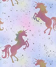 Coloroll Be Dazzled Dancing Unicorn Rainbow Tapete