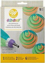 ColorSwirl Tri-Color Decorating Set 9tlg
