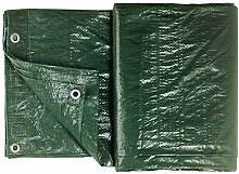 Colorus Abdeckplane Gewebeplane 48m² | Grün 6 x