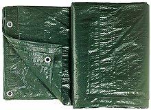 Colorus Abdeckplane Gewebeplane 6m² | Grün 2 x 3