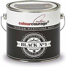 colourcourage® Premium Wandfarbe Black Nr.1,