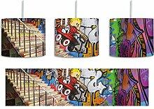 Coloured Streetart Graffiti inkl. Lampenfassung
