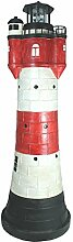 colourliving Deko Solar Leuchtturm Roter Sand