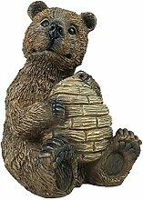 colourliving® Dekofigur Bär mit Bienenstock