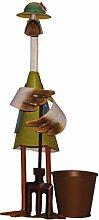 colourliving Dekofigur ENTE Mistgabel Hut