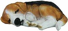 colourliving Dekofigur Hund Beagle Gibbs schlafend