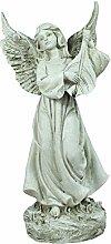 colourliving® Engel Figur mit Harfenblatt