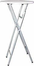 colourliving® Stehtisch Bistrotisch klappbar weiss Höhe: ca. 110 cm, Tischplatte: ca. 60 cm Ø Stabil