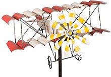 colourliving Windspiel Flugzeug Metall-Windrad