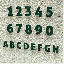 Colours-Manufaktur Hausnummer Modern 0-9 und A-H