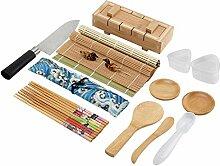 Colovis 19-teiliges Sushi-Set, inklusive 2
