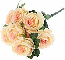 COLUDOR 9 Köpfe Valentinstag Künstliche Rosen