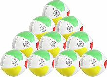 COM-FOUR® 10x Wasserball, Beachball in fruchtig-frischen Farben, Ø 26 cm